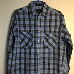 Haggar Regular Fit Plaid Shirt Sz SM